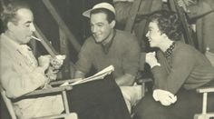 Director Vincente Minnelli, Gene Kelly and Leslie Caron enjoy a script conference.  A photo from Leslie Caron's interview with Seventeen Magazine, April 1951