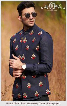kora for men Indian Wedding Suits Men, Wedding Kurta For Men, Mens Indian Wear, Mens Ethnic Wear, Indian Groom Wear, Wedding Dress Men, Indian Men Fashion, Mens Fashion Wear, Waistcoat Men Wedding
