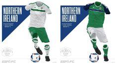 Camisa da Seleção da Irlanda do Norte Eurocopa 2016-2017 Adidas