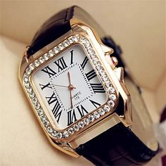 Women's Watch Fashion Diamante Pattern (Assorted Colors) – USD $ 4.99
