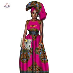 7238b81d2b1 Traditional African Women Clothing African Print Wax Custom Long Dresses