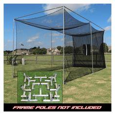 Cimarron 20x10x10 Masters Golf Net with Frame Kit #GolfNet #GreatSecretsofGolf