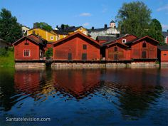 Europe Video Productions travel photo: Old town of Porvoo in Finland with wooden red shore houses - Porvoo Finland's second oldest town. Helsinki, Finland Country, Finland Travel, Finland Trip, Photo Voyage, Regions Of Europe, Scandinavian Countries, Enjoy Your Vacation, House Landscape