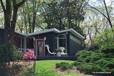 1951 Charles Goodman home in Hollin Hills Alexandria, VA  Mid-century modern architecture.