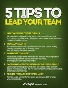5 Tips to lead your team 5 Tips to lead your team Effective Leadership Skills, Leadership Coaching, Leadership Development, Leadership Quotes, Teamwork Quotes, Leader Quotes, Life Coaching, Work Motivation, Business Motivation