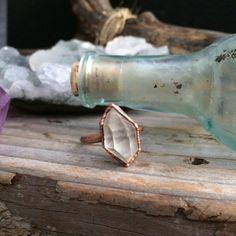Raw Crystal Ring  Raw Quartz Ring  Boho Jewelry  Gypsy by FoxLark