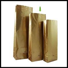 Torebka złota 100 g dwuwarstwowa laminat (100 sztuk) NA ZAMÓWIENIE