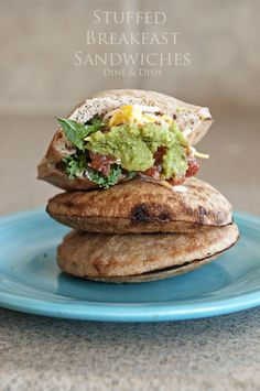 Stuffed Breakfast Sandwiches - dineanddish.net