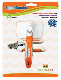 $6.99 Petskart Super Combo Self-Cleaning Slicker Brush and Nail Clipper for your dogs and cats.