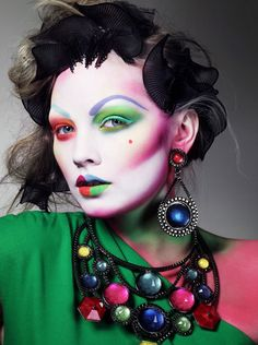 colourful makeup and accessories