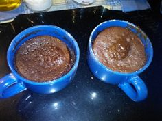 Bizcocho microondas 4 Cucharadas azúcar 4 harina 2 cacao en polvo 3 de aceite 3 de leche 1 huevo Batir todo Y 3 ó 4 minutos al micro