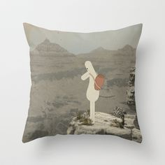 s h e r p a Throw Pillow by Marco Puccini - $20.00