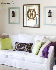 Pretty Green Purple and Aqua Room