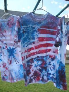 Make a DIY American flag tie-dye t-shirt for July 4th with Rit Dye.