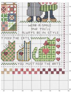 Schema punto croce Country-folk-4