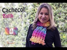 Cachecol de Crochê Batik - Inverno - Professora Simone - YouTube