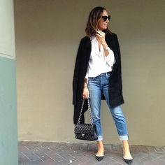 Basics office look. @scanlantheodore @genetic @maisonvalentino #Chanel #Celine by tashsefton.