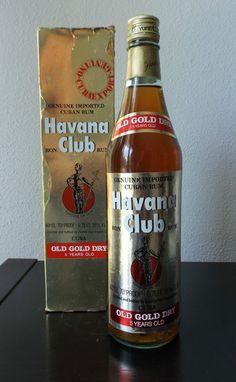 Havana Club Old Gold Dry 5 Years Rum Ron Vintage garrafa Bottle 75CL 40º