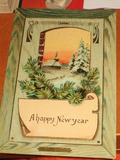 Vintage Happy New Year German Made Postcard by victoriasponge, $5.00 New Members of the Pacific Postcards Team  #ephemera #vintage #postcard #antique #collectible #collection #hobby #etsy #etsybot #shopping