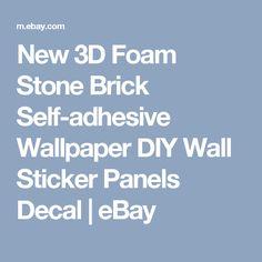 New 3D Foam Stone Brick Self-adhesive Wallpaper DIY Wall Sticker Panels Decal  | eBay