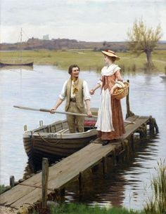An Apple for the Boatman (Edmund Blair Leighton - 1896)