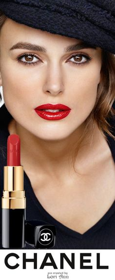 AMAZE. Keira Knightley for Chanel Rouge Coco Lip Colour. (29 shades named for Coco & the friends, artists & lovers who inspired her)