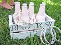 Ring toss game  IBC Root Beer Bottles Painted :)