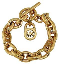 Michael Kors MKJ1046710 MICHAEL KORS Logo Lock Golden Toggle Bracelet