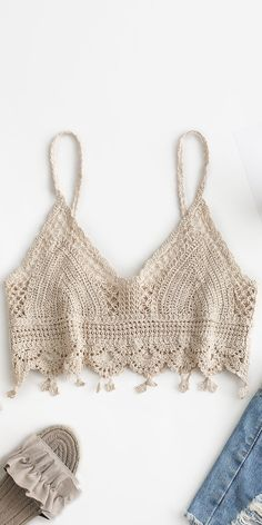 Crochet Bra, Crochet Bikini Pattern, Crochet Bikini Top, Crochet Blouse, Cute Crochet, Crochet Crafts, Crochet Clothes, Crochet Projects, Crochet Summer Tops