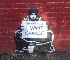 Change comes from within. Art by Banksy Activist Art, Reverse Graffiti, Creative Activities, Paint Set, To Color, Paint By Number, Banksy, Diy Painting, Art For Kids