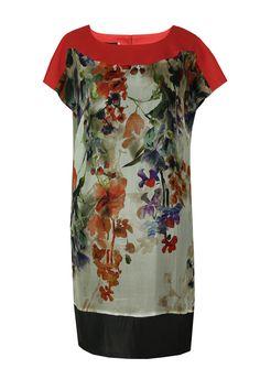 Suknia Fabiane jedwab naturalny malowane kwiaty Semper #dress #summer2016 #floral #orchid #trendy #fashion2016 #fashionbrand #red #elegance #elegant #designer #brand #casual #colourfull #printed #silk
