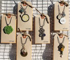 Cute necklaces - simple to make   -salvage: just around the corner...