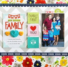 cute family pic layout