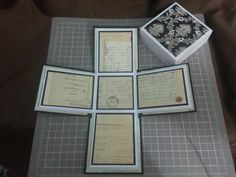 Exploding box scrapbook album with lid by Raz & Dazzle Ink