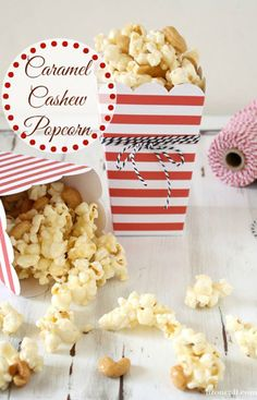A long-time family favorite!! Caramel Cashew Popcorn (she: Liz) ~ Or so she says...