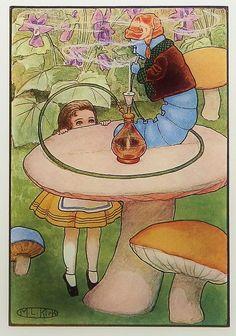Maria Kirk | ILLUSTRATION | Alice in Wonderland | Caterpillar's Hookah