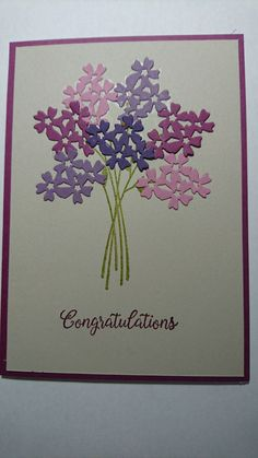 Beautiful Bouquet Stampin Up clean & simple