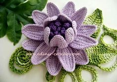 Irish Crochet Motif – Passion Flower by Ann Reillet c. 2015 Material White Work, traditional Irish Crochet: Aunt Lydia's Fine Crochet Thread 20 or Colorful, mod Diy Tricot Crochet, Bonnet Crochet, Mode Crochet, Crochet Motifs, Crochet Flower Patterns, Freeform Crochet, Irish Crochet, Crochet Designs, Crochet Crafts