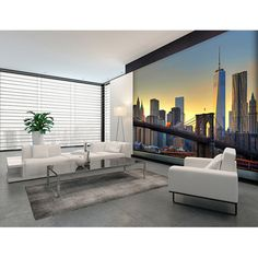 Found it at Wayfair - Brooklyn Bridge At Sunset Wall Mural