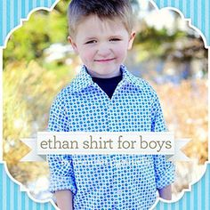 Download Sis Boom Ethan Button-up Shirt for Boys Sizes 12m - 12y Sewing Pattern | Sis Boom | YouCanMakeThis.com