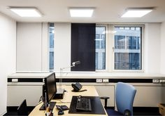 GE Capital Real Estate and GE Lighting have initiated the project in but revised the plans in 2012 after GE Lighting launched a new Lumination™ LED Luminaires Office Lighting, Lighting Products, Conference Room, Real Estate, Led, Table, Furniture, Home Decor, Light Fixture