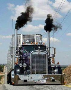"Old school Kenworth ""blowing coal"""