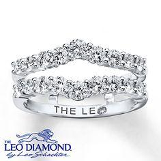 Leo Diamond Enhancer Ring 1 Carat Tw 14k White Gold
