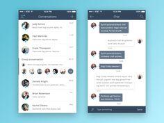 Chat App on Behance