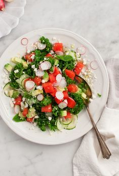 Kale, Avocado and Watermelon Salad