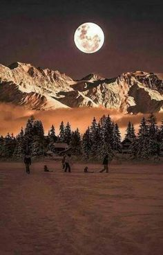 99 Charming Moonlight Photography Ideas and Tips Moonlight Photography, Moon Photography, Winter Photography, Photography Ideas, Beautiful Moon, Beautiful World, Beautiful Places, Beautiful Pictures, Moon Pictures