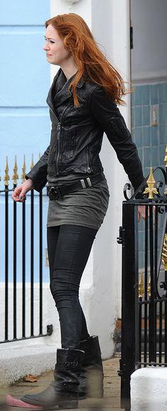 "Amy Pond, Doctor Who Episode ""Asylum of the Daleks""    Ashley ray via Mj Coffeeholick onto I love red hair"