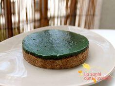 Tartelettes crues à la spiruline: recette detox