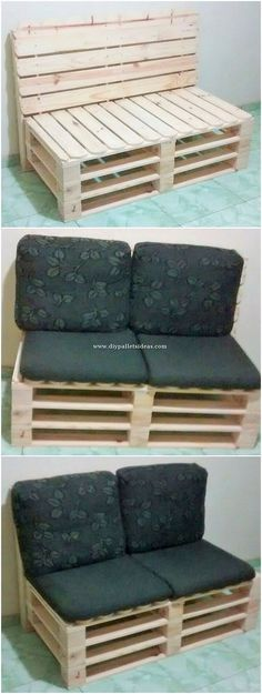 Use Pallet Wood Projects to Create Unique Home Decor Items – Hobby Is My Life Small Bedroom Furniture, Bench Furniture, Diy Pallet Furniture, Diy Pallet Projects, Cool Furniture, Wood Projects, House Furniture, Pallet Ideas, Woodworking Projects