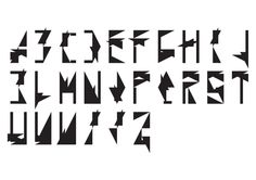 Paper font by Anna Batog, via Behance